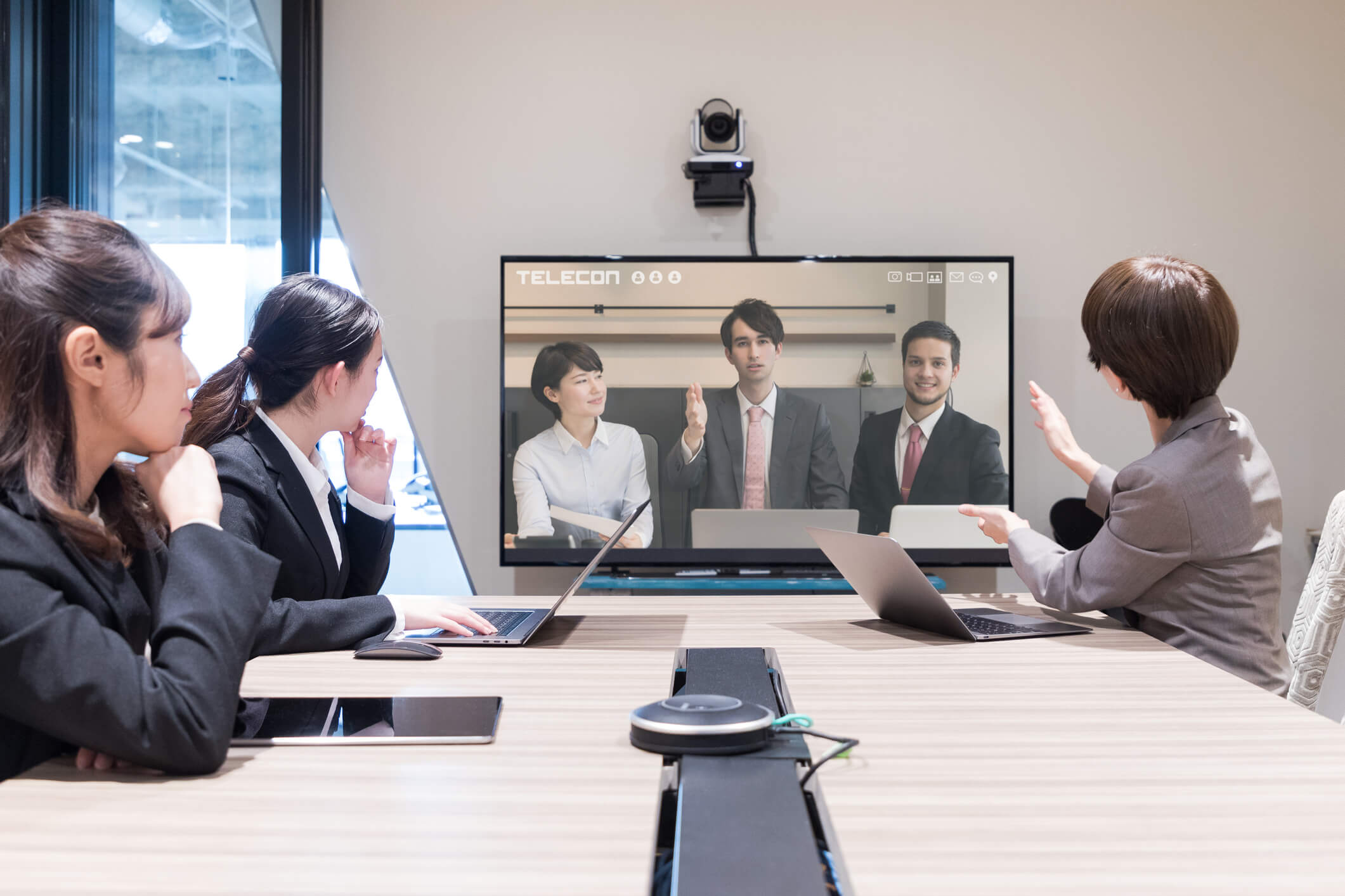 videoconference with Japanese