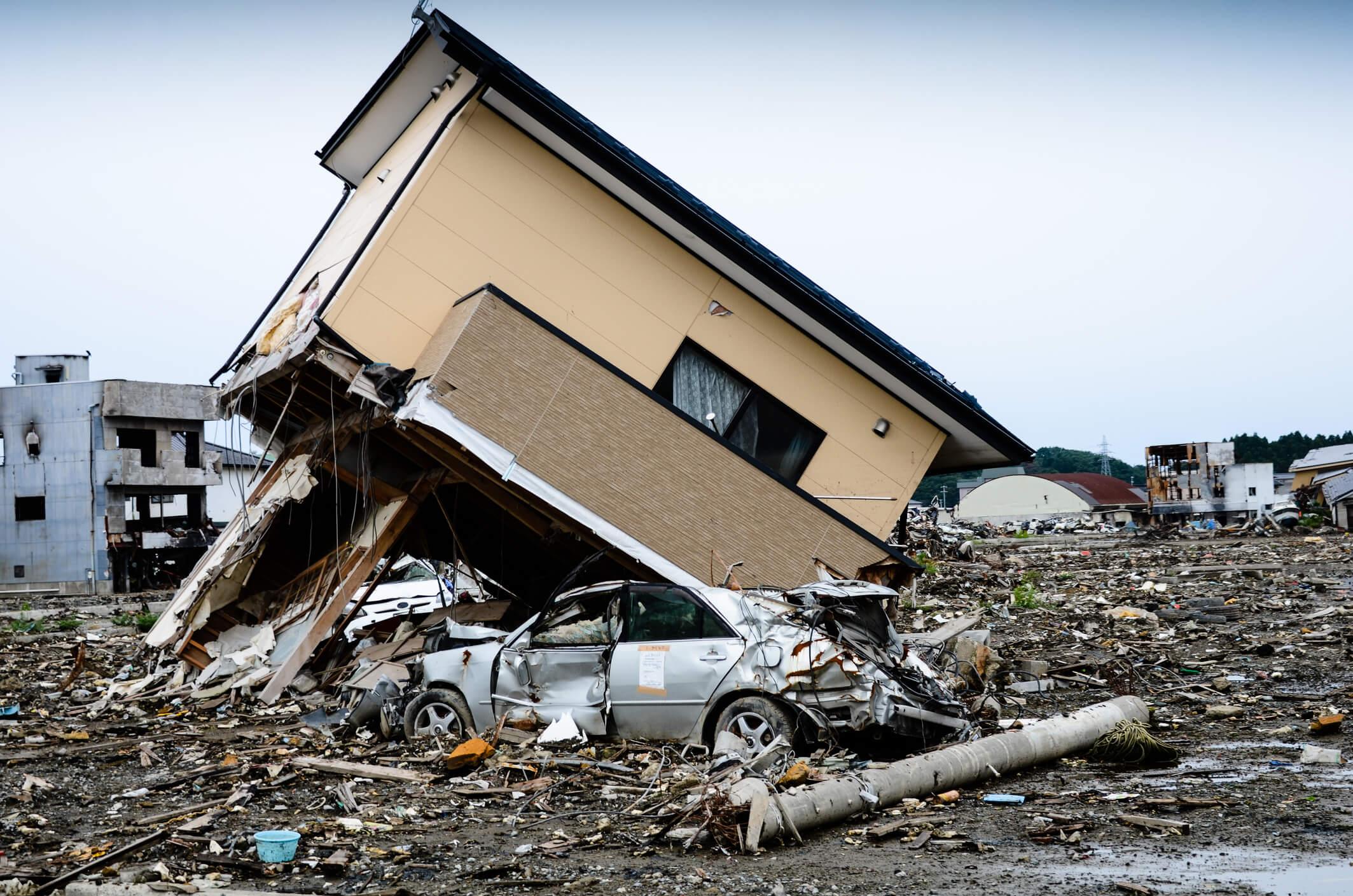 destruction in Tohoku March 2011