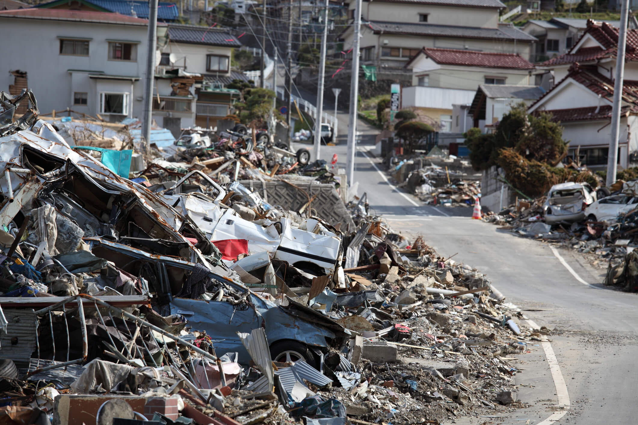 devastation in Tohoku 2011 tsunami flyjin