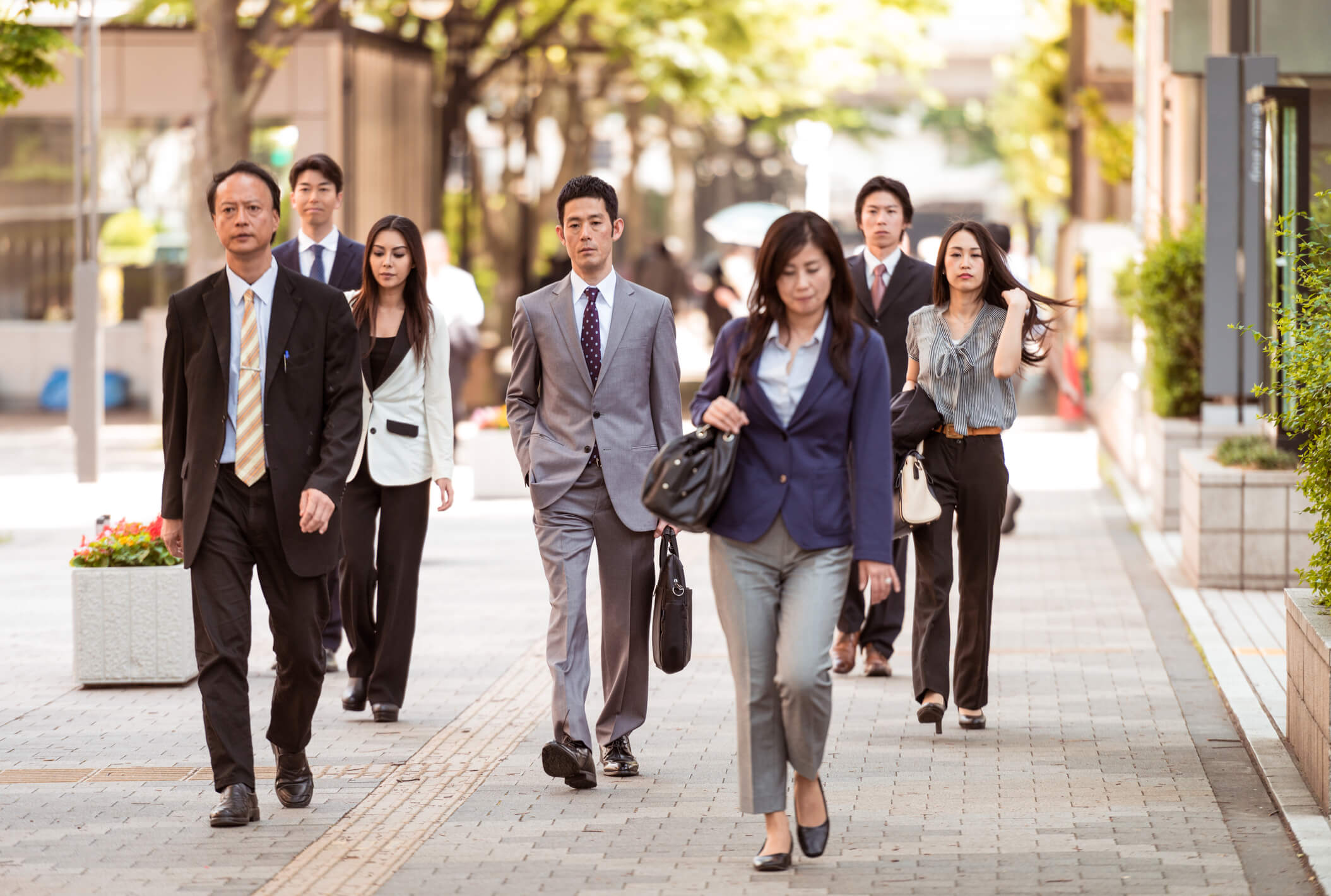 disengaged Japanese workers