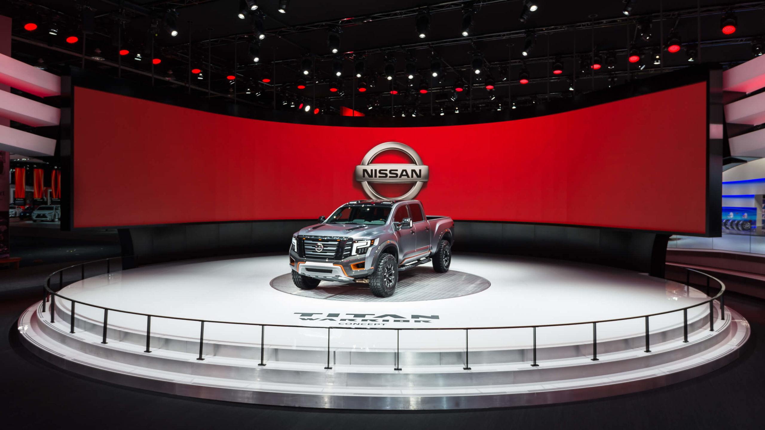 Nissan truck at an auto show